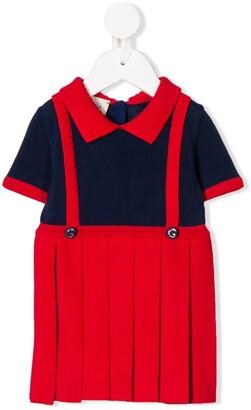 Gucci Kids Pinafore Knit Dress