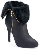 JLO by Jennifer Lopez Women's Foldover High Heel Ankle Boots
