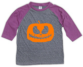 Urban Smalls Gray & Purple Jack-O'-Lantern Raglan Tee - Toddler & Girls