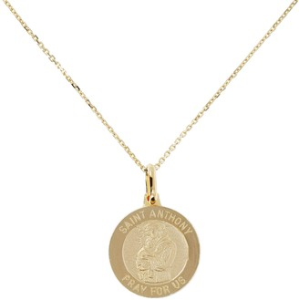 "Anthony Logistics For Men Veronese 18K Clad Saint Pendant with 18"" Chain"