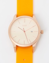 Matte Rose Gold & Orange Watch