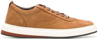 Corneliani leather lace-up sneakers