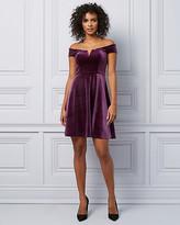 Le Château Velvet Off-The-Shoulder Fit & Flare Dress