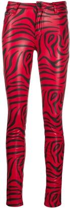 Philipp Plein Zebra Print Skinny Trousers
