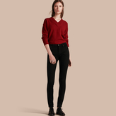 Burberry Skinny Fit High-Rise Deep Black Jeans