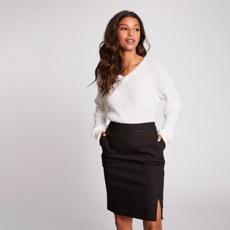 Morgan Knee-Length Pencil Skirt with Pockets