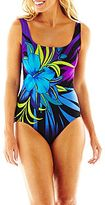 Robby Len by Longitude Floral Print 1-Piece Swimsuit