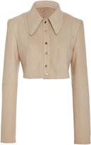 Diane von Furstenberg Cropped Tailored Jacket