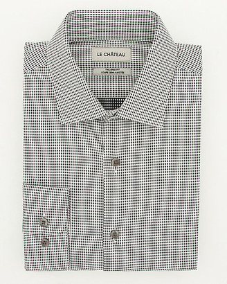 Le Château Novelty Print Cotton Tailored Fit Shirt