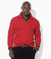 Polo Ralph Lauren Long-Sleeved Cotton Half-Zip Mockneck Sweater