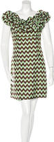 Milly Ruffle-Accented Printed Dress