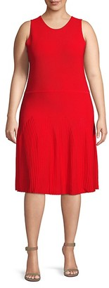 Rachel Roy Plus Sleeveless Knee-Length Dress