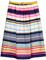 Yumi Stripe Belted Skirt