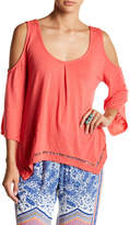 Green Dragon Cold Shoulder Burnout Shirt