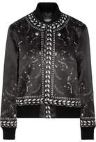Givenchy Panther Printed Duchesse-satin Bomber Jacket - Black