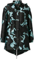 Versace Baroccoflage hooded jacket