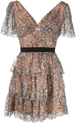 Self-Portrait Sequin-Embellished Dress