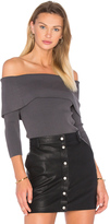 Central Park West Irving Place Off Shoulder Sweater