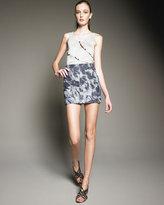 Thakoon Addition Seamed Floral-Print Miniskirt