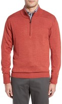 Cutter & Buck Men's Big & Tall Douglas Quarter Zip Wool Blend Sweater