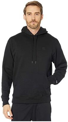 Champion Powerblend(r) Fleece Hoodie (Black) Men's Sweatshirt