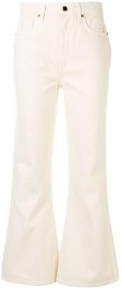 KHAITE Vivian bell-bottom jeans