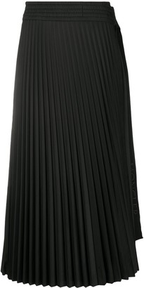 Moncler Side Tie-Fastening Detail Pleated Skirt