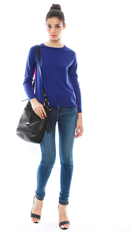 Mason by Michelle Mason Sweater with Silk -