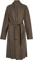 Denis Colomb Raw-edge cashmere and camel-blend coat