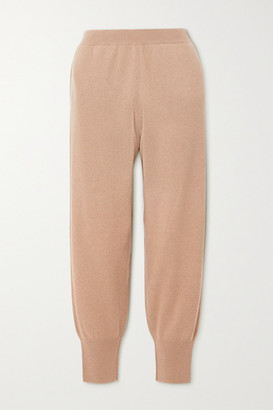 Stella McCartney + Net Sustain Cashmere And Wool-blend Track Pants - Beige