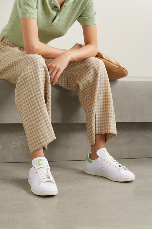 Thumbnail for your product : adidas + Net Sustain + Kermit The Frog Stan Smith Primegreen Sneakers - White