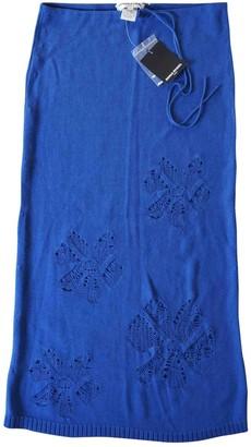 Sonia Rykiel Blue Cotton Skirt for Women