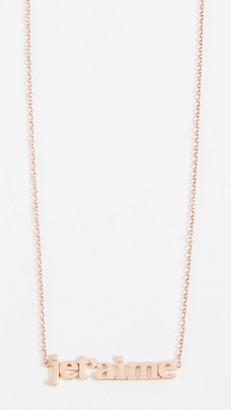 Jennifer Meyer Jet'aime Necklace