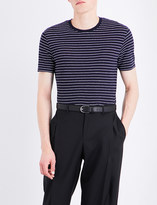 Sandro Striped linen T-shirt