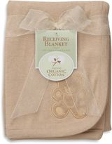 Bed Bath & Beyond Natural Organic Cotton Receiving Blanket with Bear Embroidery