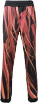 Nicopanda - fur print track pants - unisex - Cotton/Polyester - XS