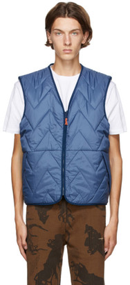 Levis Made and Crafted Reversible Blue Faux-Shearling Vest