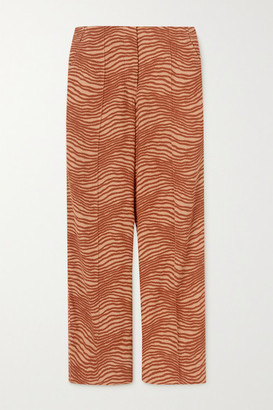 By Malene Birger Andinia Printed Crepe Wide-leg Pants - Brick