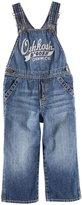 Osh Kosh Logo Denim Overalls (Baby) - Blue-18 Months
