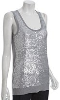 pearl heather sequin front scoop neck tank