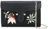 Twin-Set embellished clutch chain bag - women - Polyester/Polyurethane/Synthetic Enamel/glass - One Size
