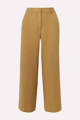 Mansur Gavriel Cropped Wool Straight-leg Pants - Camel