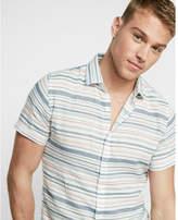 Express Soft Wash Striped Short Sleeve Shirt