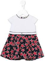 Armani Junior starfish print dress - kids - Cotton/Polyamide/Spandex/Elastane - 6 mth
