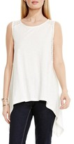Vince Camuto Lace Inset Handkerchief Tank