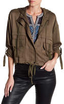 Max Studio Cropped Utility Jacket