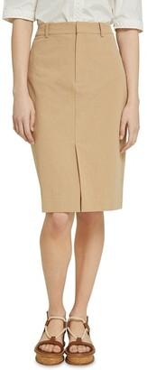 Oxford Deana Cotton Pencil Skirt Lt