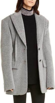 Alexander Wang Oversized Alpaca & Wool Blend Blazer