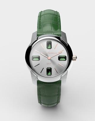 Dolce & Gabbana Watch With Alligator Strap