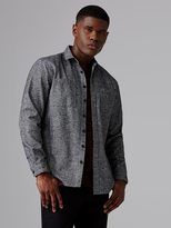 Frank + Oak Heavy Twill Flannel Shirt in Grey